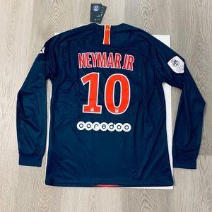timeless design 615a3 94f5b Neymar Jr #10 long sleeve soccer jersey PSG home NWT